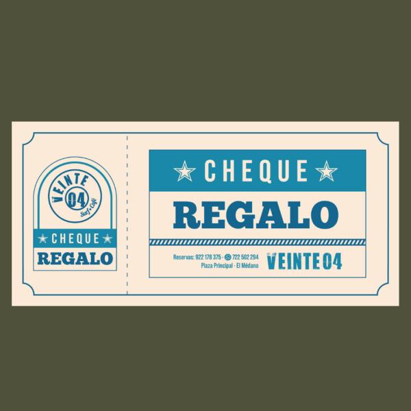 Cheque Regalo Veinte04 en el Medano
